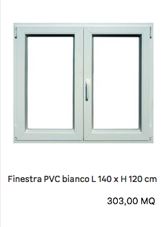 Finestra in pvc bianco preventivo infissi pvc for Preventivo infissi in pvc